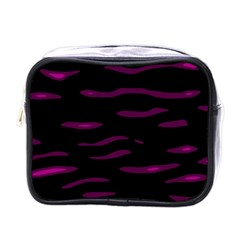 Purple And Black Mini Toiletries Bags by Valentinaart