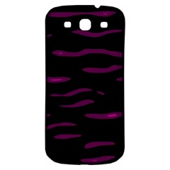 Purple And Black Samsung Galaxy S3 S Iii Classic Hardshell Back Case by Valentinaart