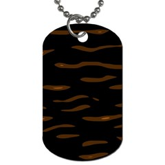 Orange And Black Dog Tag (one Side) by Valentinaart