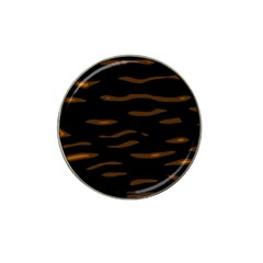 Orange And Black Hat Clip Ball Marker (10 Pack) by Valentinaart