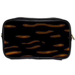 Orange And Black Toiletries Bags