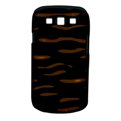 Orange And Black Samsung Galaxy S Iii Classic Hardshell Case (pc+silicone) by Valentinaart