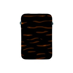 Orange And Black Apple Ipad Mini Protective Soft Cases by Valentinaart
