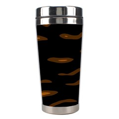 Orange And Black Stainless Steel Travel Tumblers