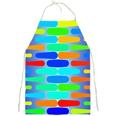 Colorful Shapes On A Blue Background                                                                                       			full Print Apron by LalyLauraFLM