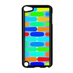 Colorful Shapes On A Blue Background                                                                                      			apple Ipod Touch 5 Case (black) by LalyLauraFLM