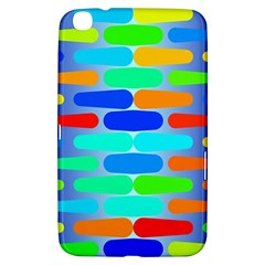 Colorful Shapes On A Blue Background                                                                                      			samsung Galaxy Tab 3 (8 ) T3100 Hardshell Case by LalyLauraFLM