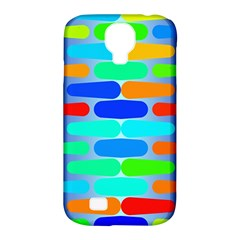 Colorful Shapes On A Blue Background                                                                                      			samsung Galaxy S4 Classic Hardshell Case (pc+silicone) by LalyLauraFLM