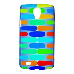 Colorful Shapes On A Blue Background                                                                                      			samsung Galaxy S4 Active (i9295) Hardshell Case by LalyLauraFLM