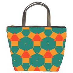 Honeycombs And Triangles Pattern                                                                                       	bucket Bag by LalyLauraFLM