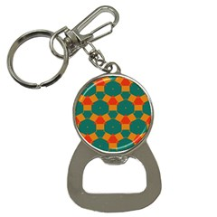 Honeycombs And Triangles Pattern                                                                                       			bottle Opener Key Chain by LalyLauraFLM