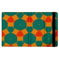 Honeycombs And Triangles Pattern                                                                                      			apple Ipad 2 Flip Case by LalyLauraFLM