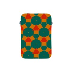 Honeycombs And Triangles Pattern                                                                                      			apple Ipad Mini Protective Soft Case by LalyLauraFLM