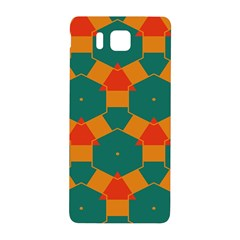 Honeycombs And Triangles Pattern                                                                                      			samsung Galaxy Alpha Hardshell Back Case by LalyLauraFLM