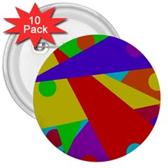 Colorful Abstract Design 3  Buttons (10 Pack)  by Valentinaart