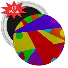 Colorful Abstract Design 3  Magnets (10 Pack)  by Valentinaart