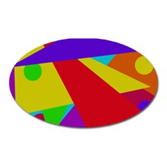 Colorful Abstract Design Oval Magnet by Valentinaart