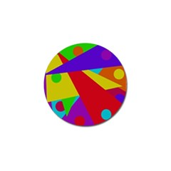 Colorful Abstract Design Golf Ball Marker by Valentinaart