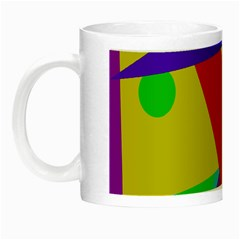 Colorful Abstract Design Night Luminous Mugs by Valentinaart