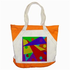 Colorful Abstract Design Accent Tote Bag by Valentinaart
