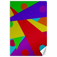 Colorful Abstract Design Canvas 24  X 36  by Valentinaart