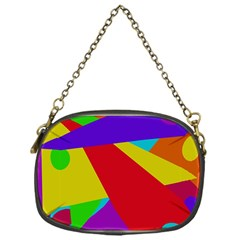 Colorful Abstract Design Chain Purses (one Side)  by Valentinaart