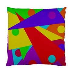 Colorful Abstract Design Standard Cushion Case (one Side) by Valentinaart
