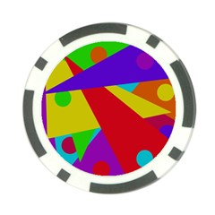 Colorful Abstract Design Poker Chip Card Guards (10 Pack)  by Valentinaart
