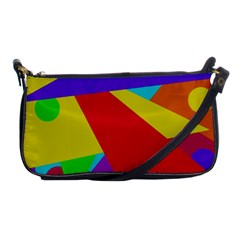 Colorful Abstract Design Shoulder Clutch Bags by Valentinaart
