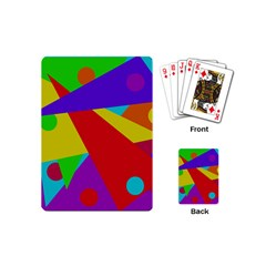 Colorful Abstract Design Playing Cards (mini)  by Valentinaart