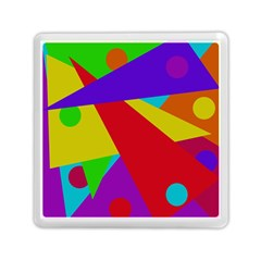 Colorful Abstract Design Memory Card Reader (square)  by Valentinaart