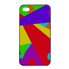 Colorful Abstract Design Apple Iphone 4/4s Seamless Case (black) by Valentinaart