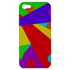 Colorful Abstract Design Apple Iphone 5 Hardshell Case by Valentinaart