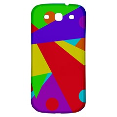 Colorful Abstract Design Samsung Galaxy S3 S Iii Classic Hardshell Back Case by Valentinaart