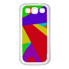 Colorful Abstract Design Samsung Galaxy S3 Back Case (white) by Valentinaart