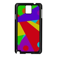 Colorful Abstract Design Samsung Galaxy Note 3 N9005 Case (black) by Valentinaart