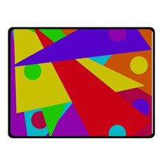 Colorful Abstract Design Double Sided Fleece Blanket (small)  by Valentinaart