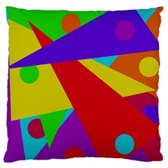 Colorful Abstract Design Standard Flano Cushion Case (one Side) by Valentinaart