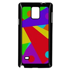 Colorful Abstract Design Samsung Galaxy Note 4 Case (black) by Valentinaart
