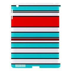 Blue, Red, And White Lines Apple Ipad 3/4 Hardshell Case (compatible With Smart Cover) by Valentinaart