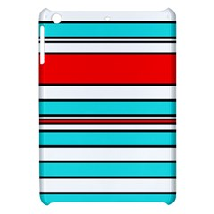 Blue, Red, And White Lines Apple Ipad Mini Hardshell Case by Valentinaart