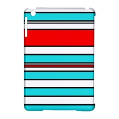 Blue, Red, And White Lines Apple Ipad Mini Hardshell Case (compatible With Smart Cover) by Valentinaart