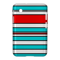 Blue, Red, And White Lines Samsung Galaxy Tab 2 (7 ) P3100 Hardshell Case