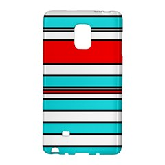 Blue, Red, And White Lines Galaxy Note Edge by Valentinaart