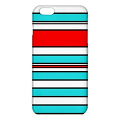 Blue, Red, And White Lines Iphone 6 Plus/6s Plus Tpu Case by Valentinaart