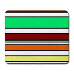 Green, Orange And Yellow Lines Large Mousepads by Valentinaart