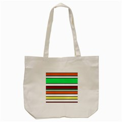 Green, Orange And Yellow Lines Tote Bag (cream) by Valentinaart