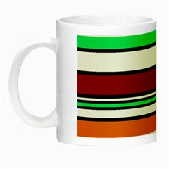Green, Orange And Yellow Lines Night Luminous Mugs by Valentinaart