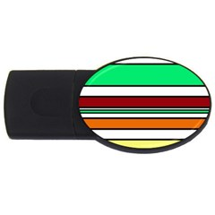 Green, Orange And Yellow Lines Usb Flash Drive Oval (4 Gb)  by Valentinaart
