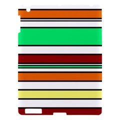 Green, Orange And Yellow Lines Apple Ipad 3/4 Hardshell Case by Valentinaart